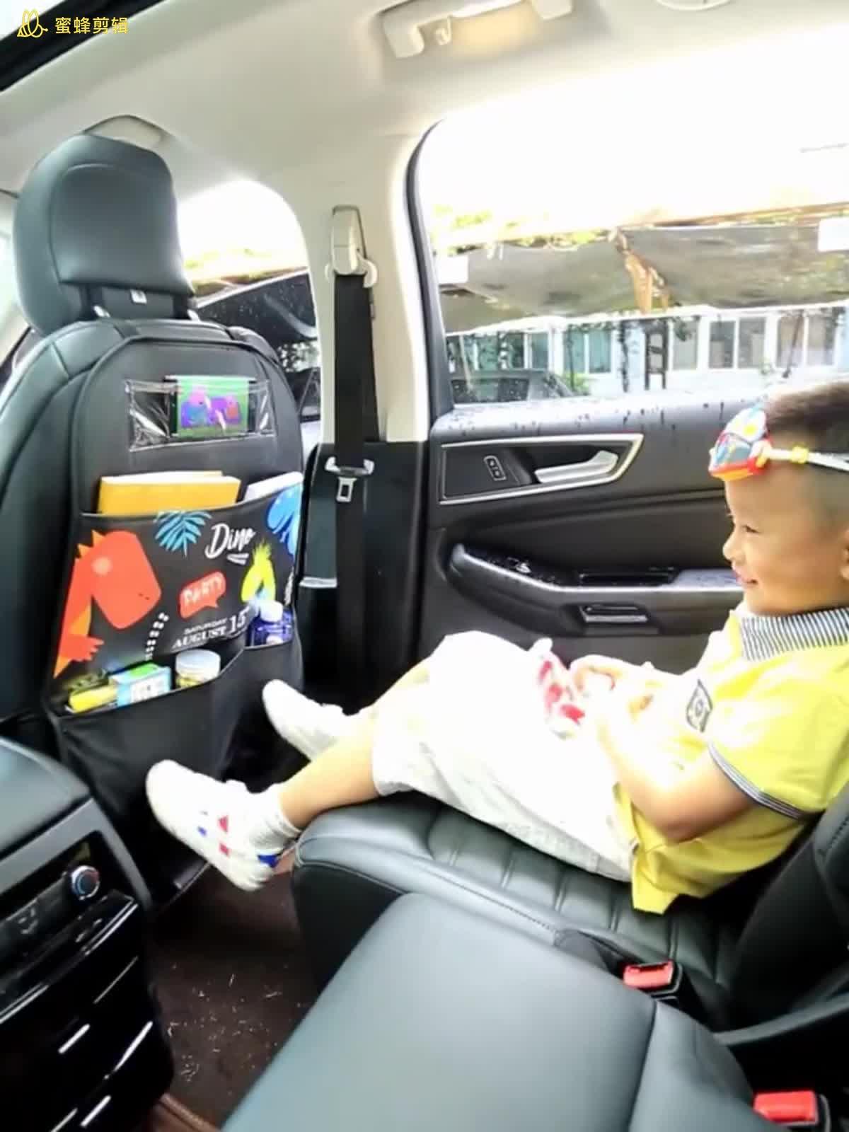 Car accessories interior decorative auto seat organizer storage front backseat seat protector hanging car backseat organizer bag