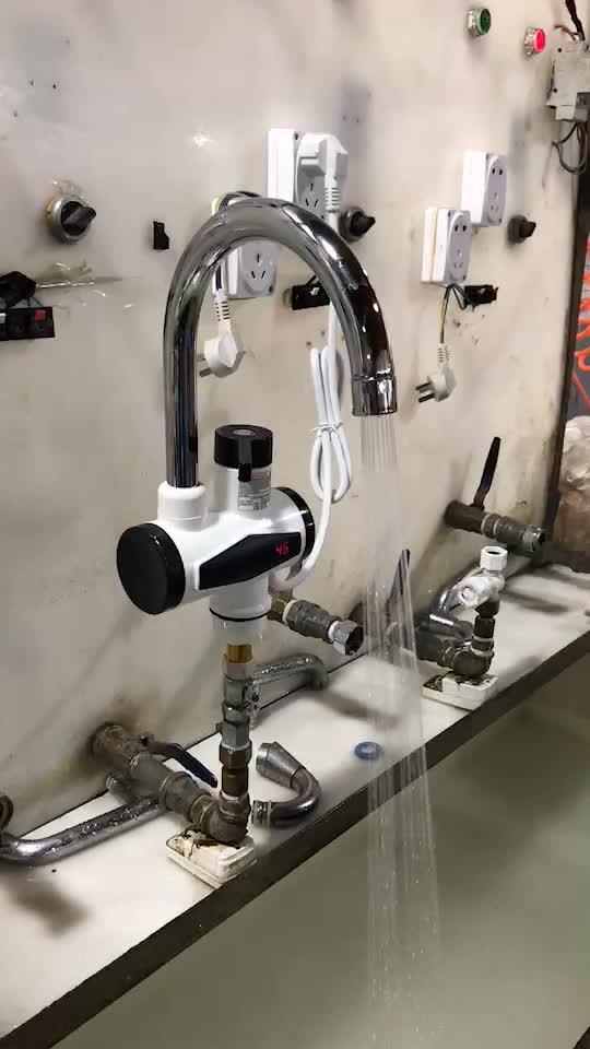 लोकप्रिय त्वरित विद्युत गरम पानी के नल घरेलू बिजली रसोई और बाथरूम में नल