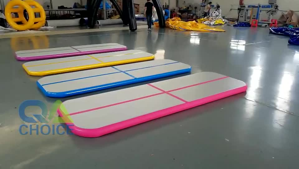 2019 New Design Inflatable Gym Air Tracks Tumble Track Inflatable Air Mat For Gymnastics