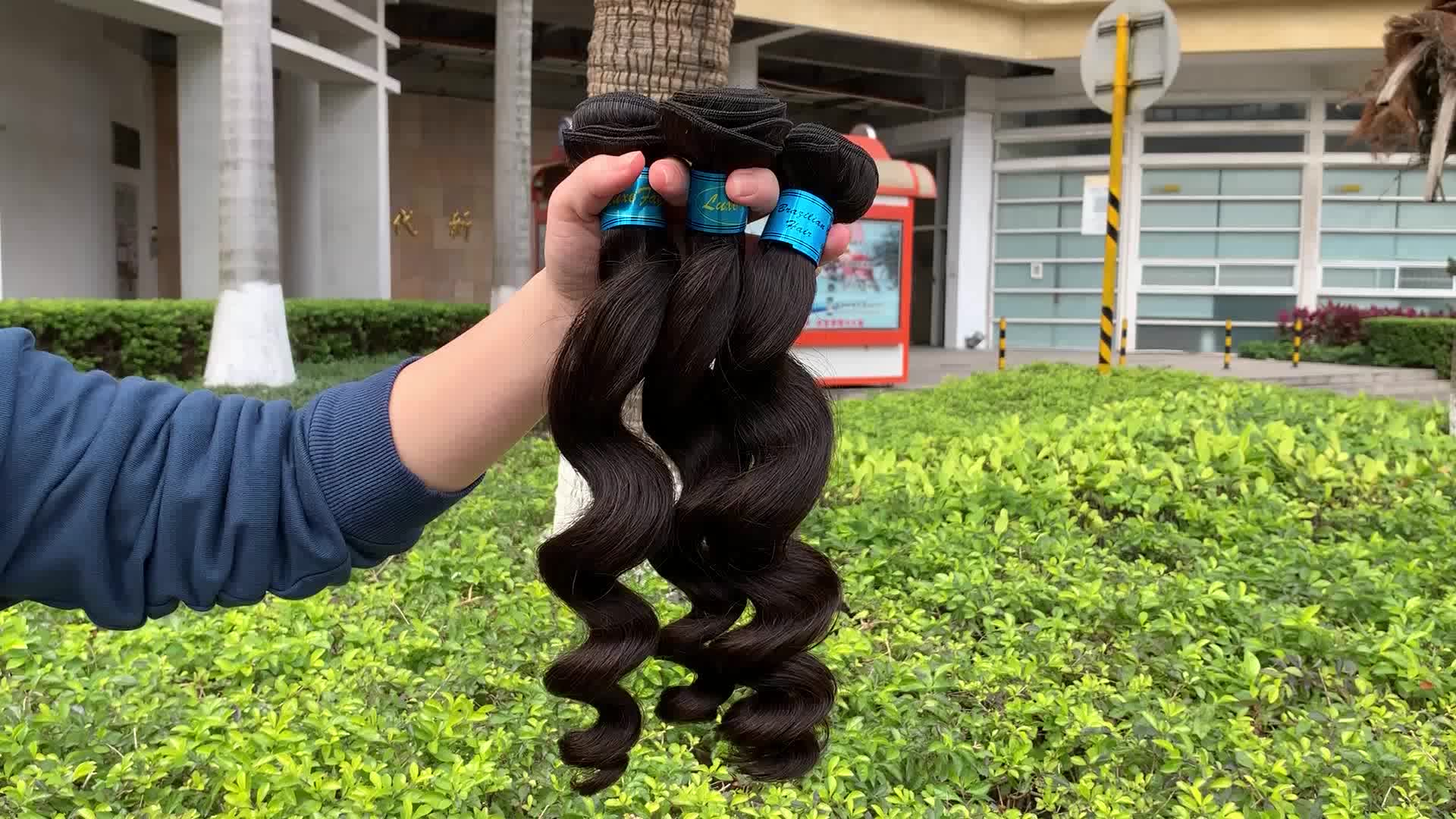 hot selling fashion raw remy unprocessed virgin human double drawn Brazilian indianer natural hair extension for weave brands