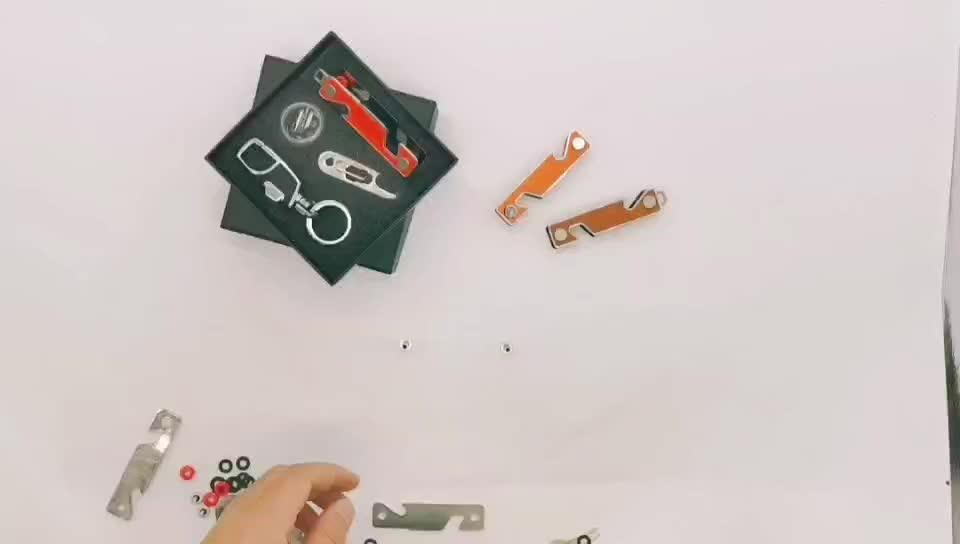 โปรโมชั่นของขวัญชุดแฟชั่นคุณภาพสูงพวงกุญแจ Organizer2-14Keys สมาร์ทคีย์โลหะสำหรับผู้หญิง