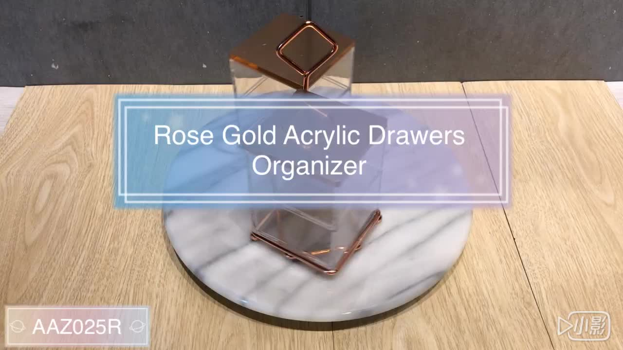 Wholesale Storage Rose Gold cotton ball Organizer