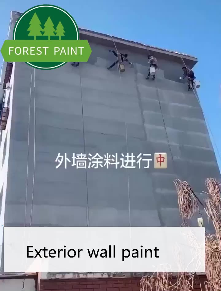Long duration Water based exterior textured wall coating pure acrylic latex paint