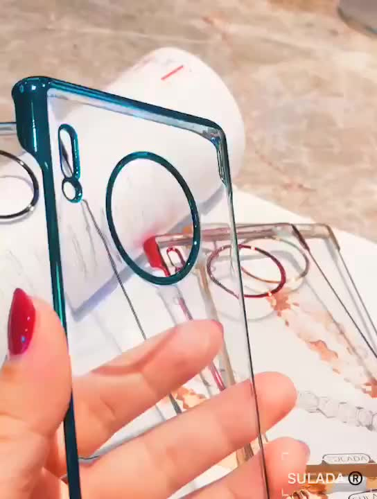 SULADA Original Plating Frameless Cell Phone Case For Huawei Mate 30pro Thin Clear Case For Huawei Mate 30pro ZY-293