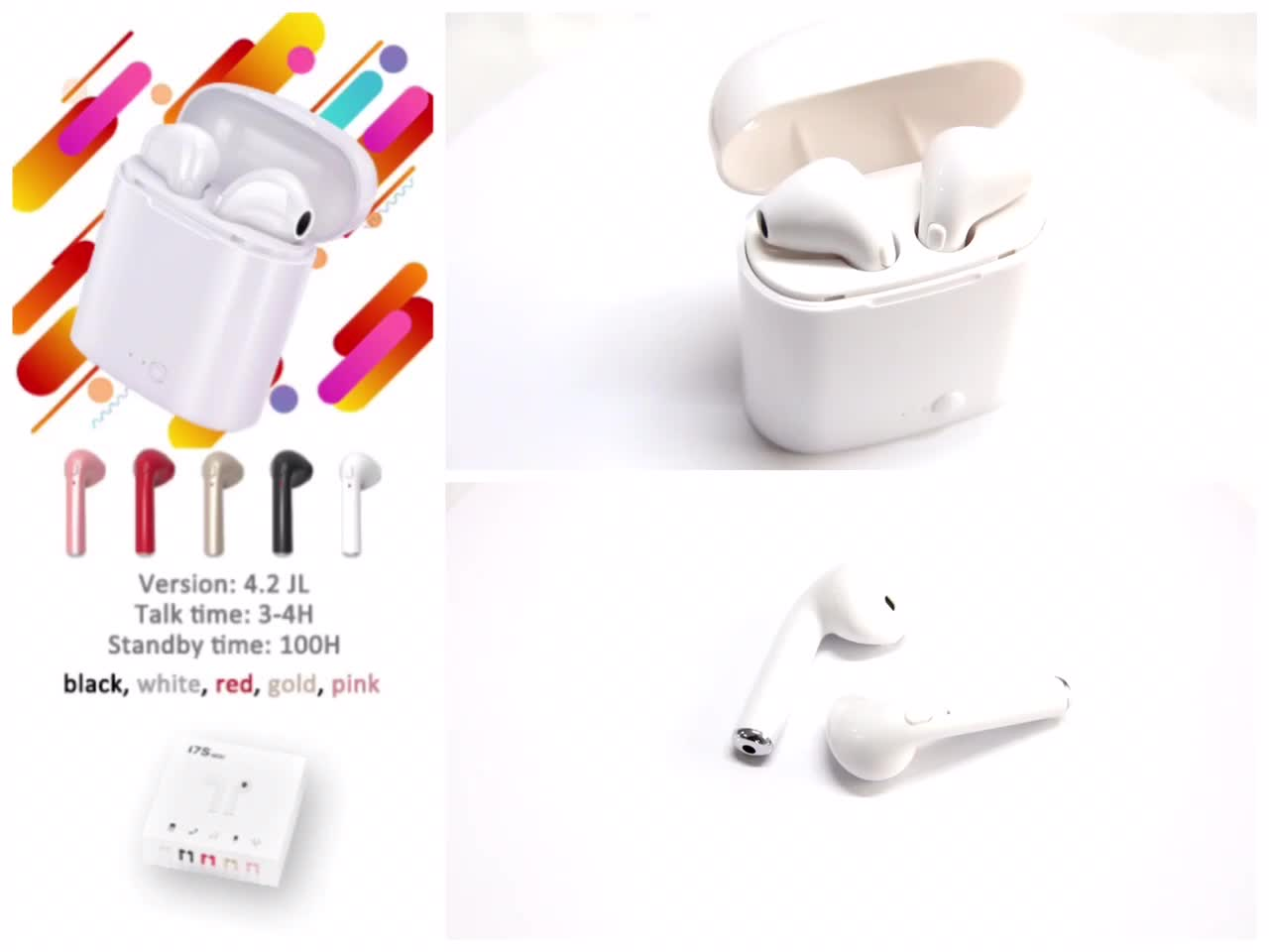 Mini Wireless Earphone i7s Music Stereo Bass Handfree Headset TWS i7s Earbuds