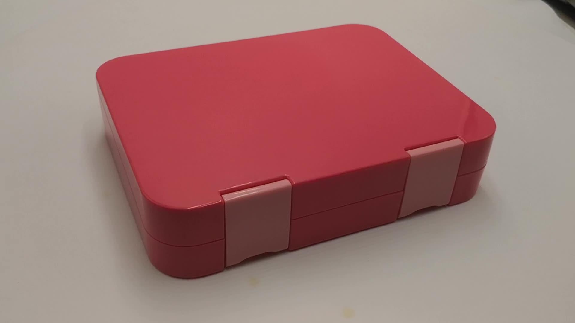 Lekvrij Verzegelde Bento Box met 6 Compartimenten BPA Gratis Plastic en Tritan Magnetron Veilig Lunchbox