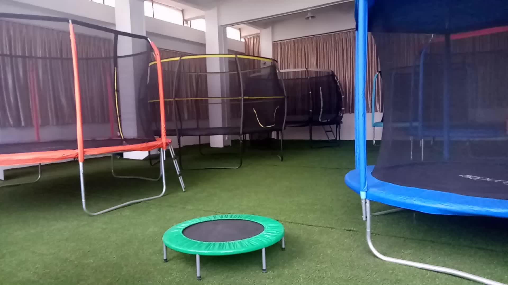 Sundowขายร้อนรอบ 40 นิ้วเด็กเล็กFitness Trampolineสำหรับเด็ก