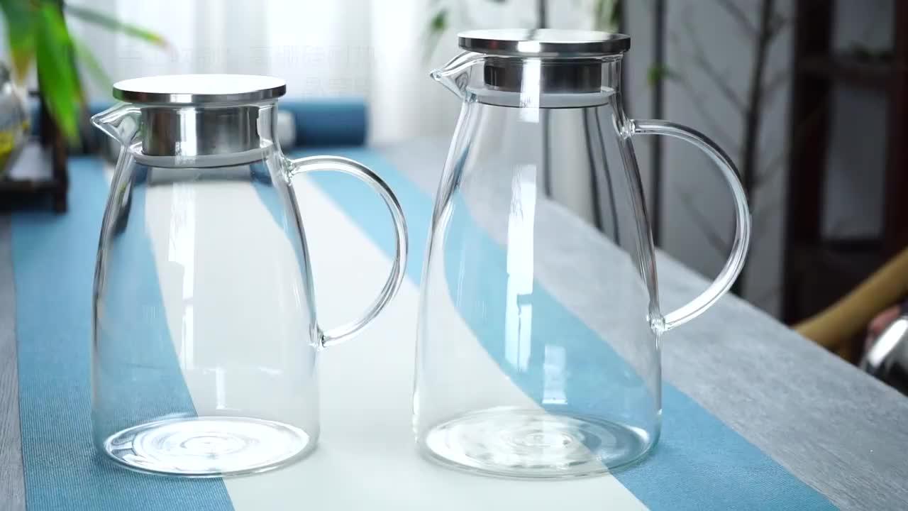도매 음식 급료 명확한 붕규산 유리 물 carafe