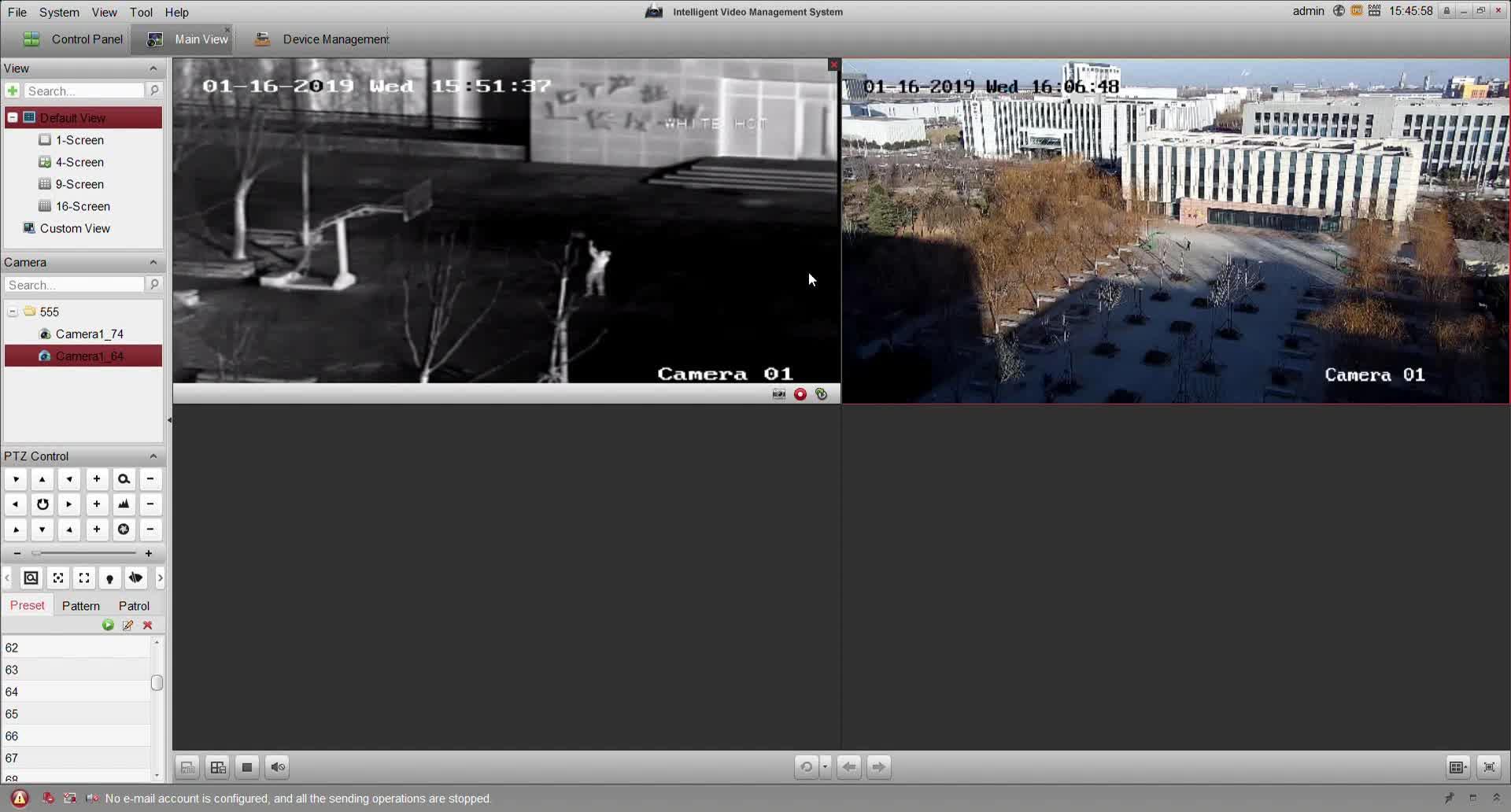 T 形状車載デュアルセンサー熱画像カメラ日光カメラ