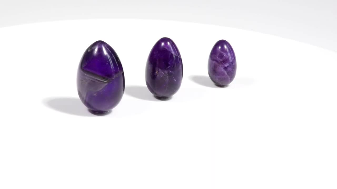 High quality nephrite 3 pcs Set Jade Yoni Eggs with Instructions and One Box Drilled for women gifts