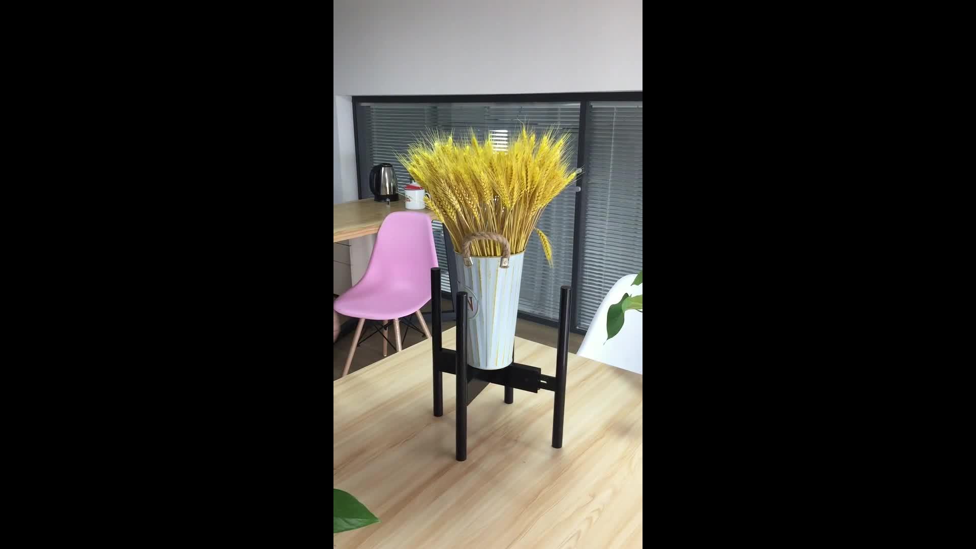 블랙 실내 야외 대나무 나무 식물 꽃 냄비 랙 스탠드