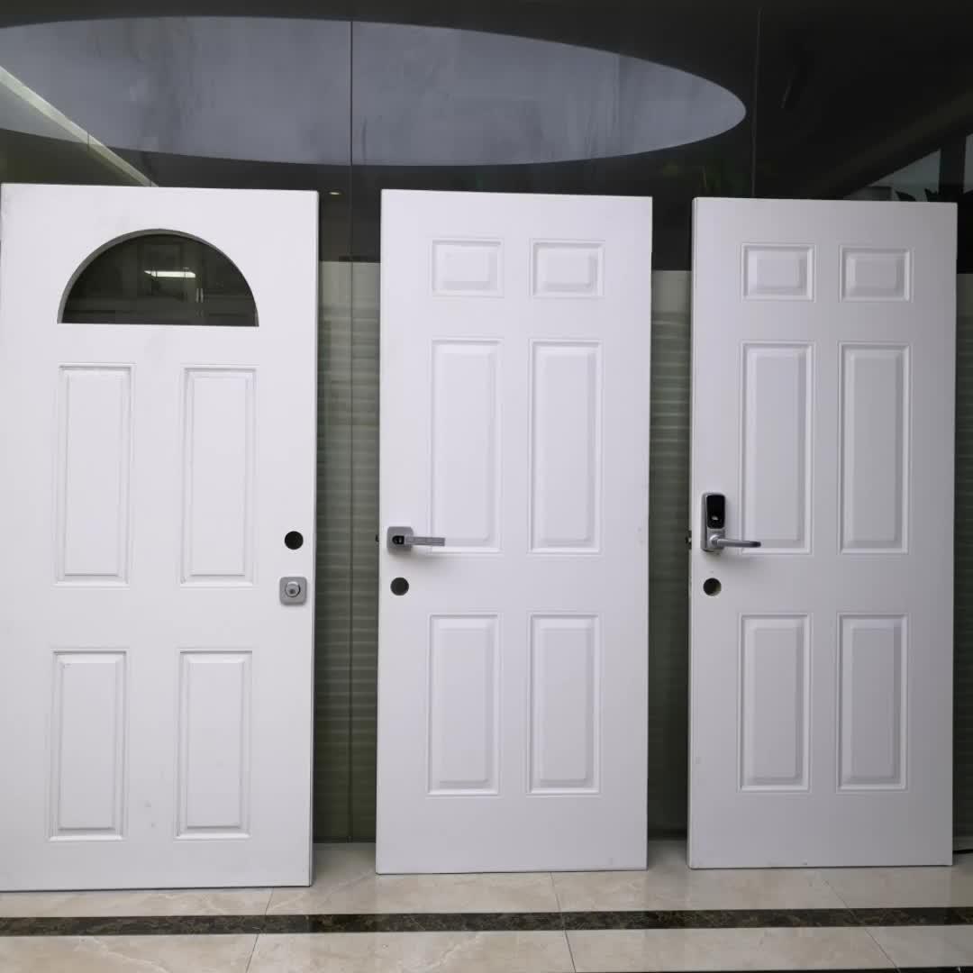 3PNL Oval Glass  Steel Door,Entry Door
