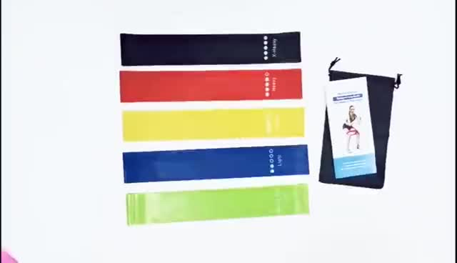 Custom Printed Logo Exercise Resistance Band Loops Sets Wholesale Latex Stretch Resistance Bands