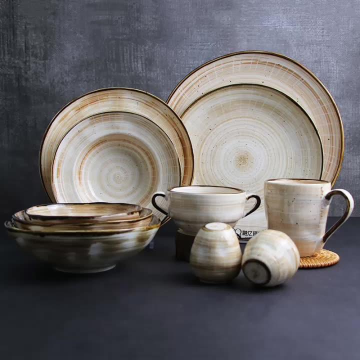 Porcelain New Color Design Porcelain Plates Set  for Banquet and Restaurant