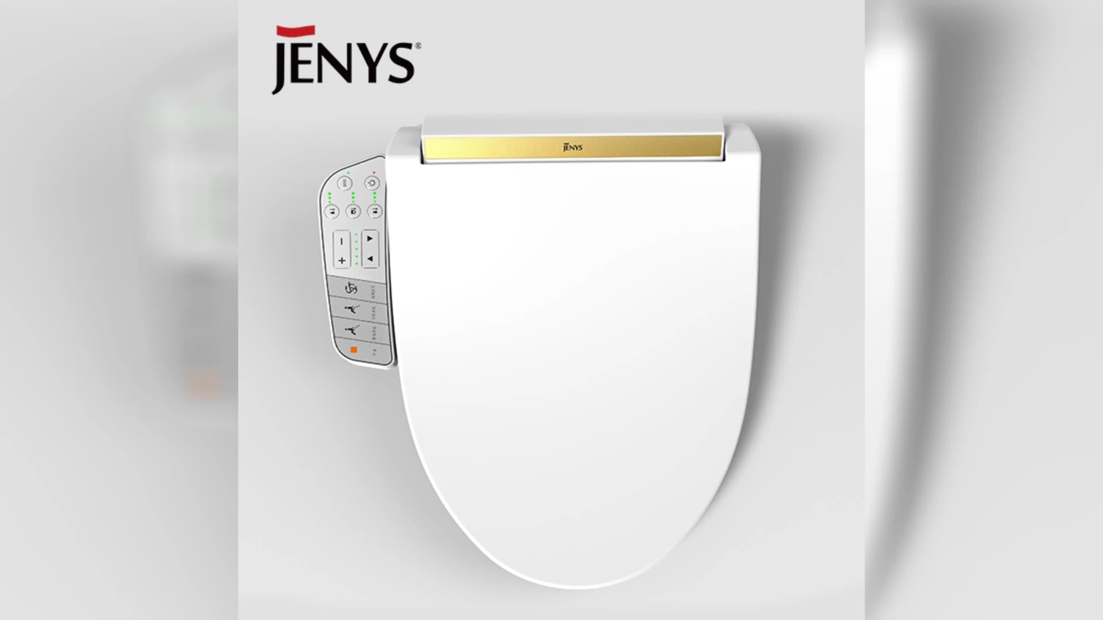 Jenys Battery Operated Bidet Toilet Seat Heated Toilet