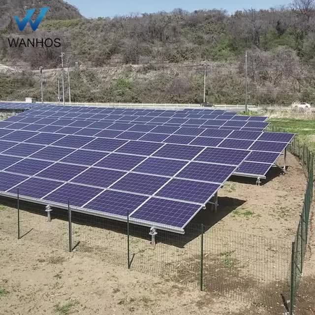 aluminum solar structures ground solar mounting