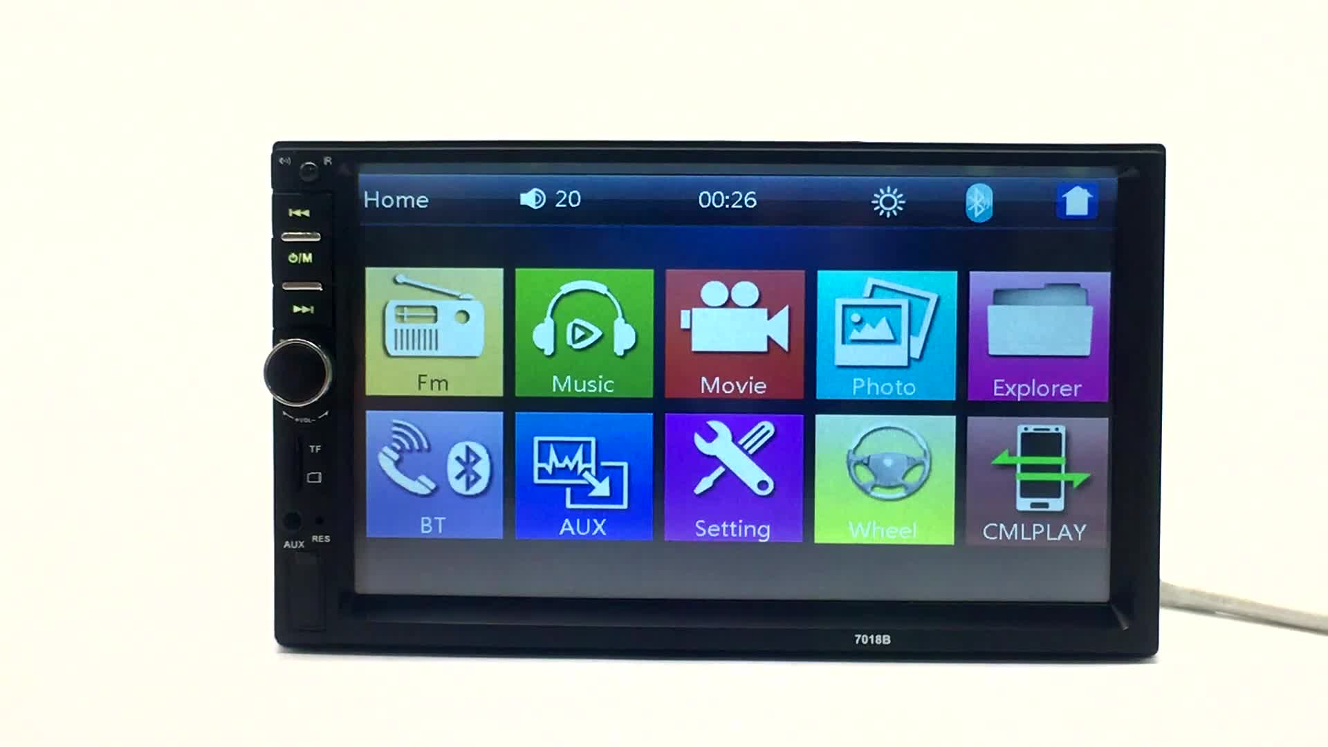 Universale 7 pollici touch screen manuale utente auto mp5 player doppio din MP5 auto lettore dvd con bluetooth car radio 7018b commercio all'ingrosso