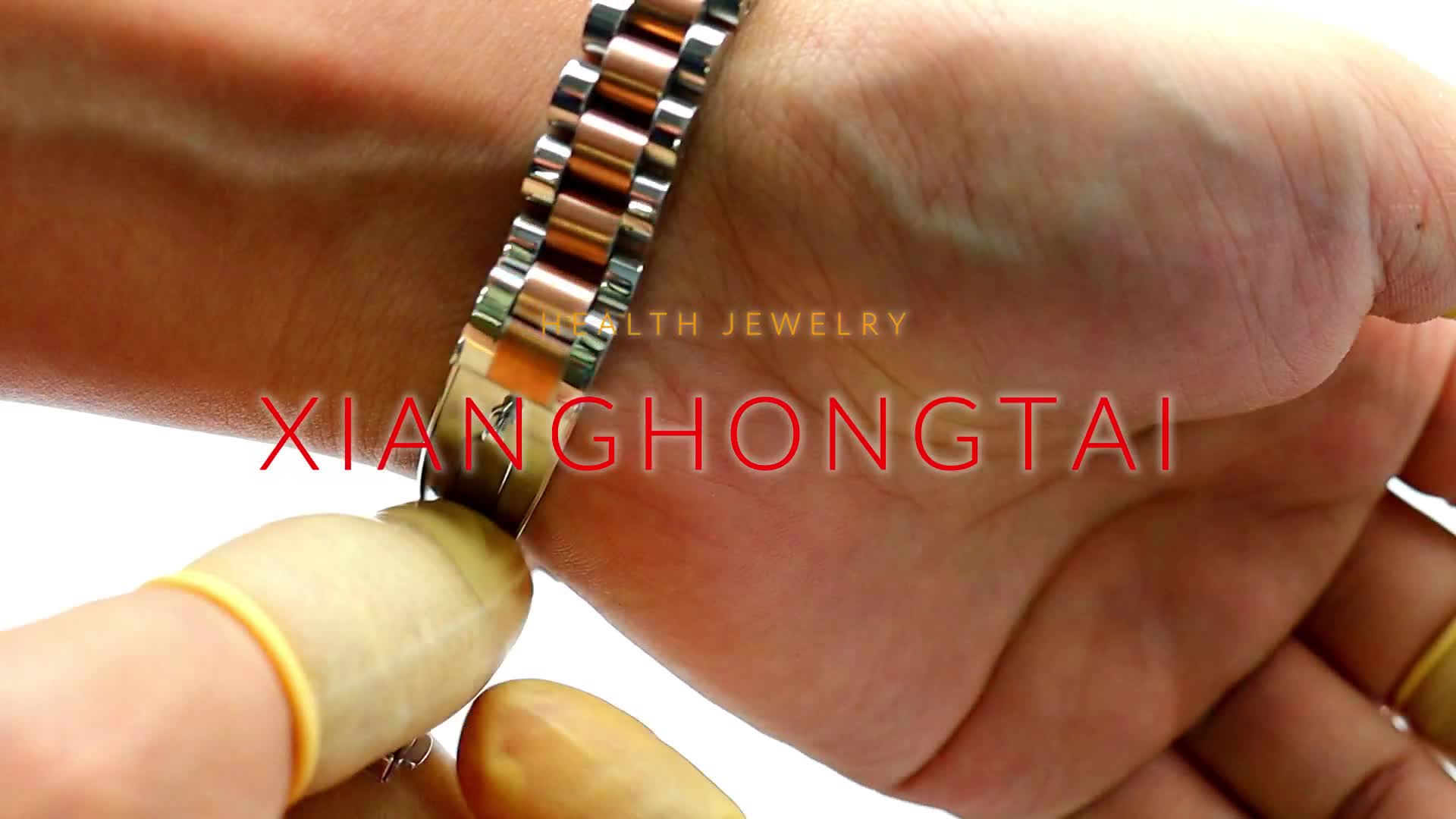 Factory price gold and silver tungsten germanium bracelet