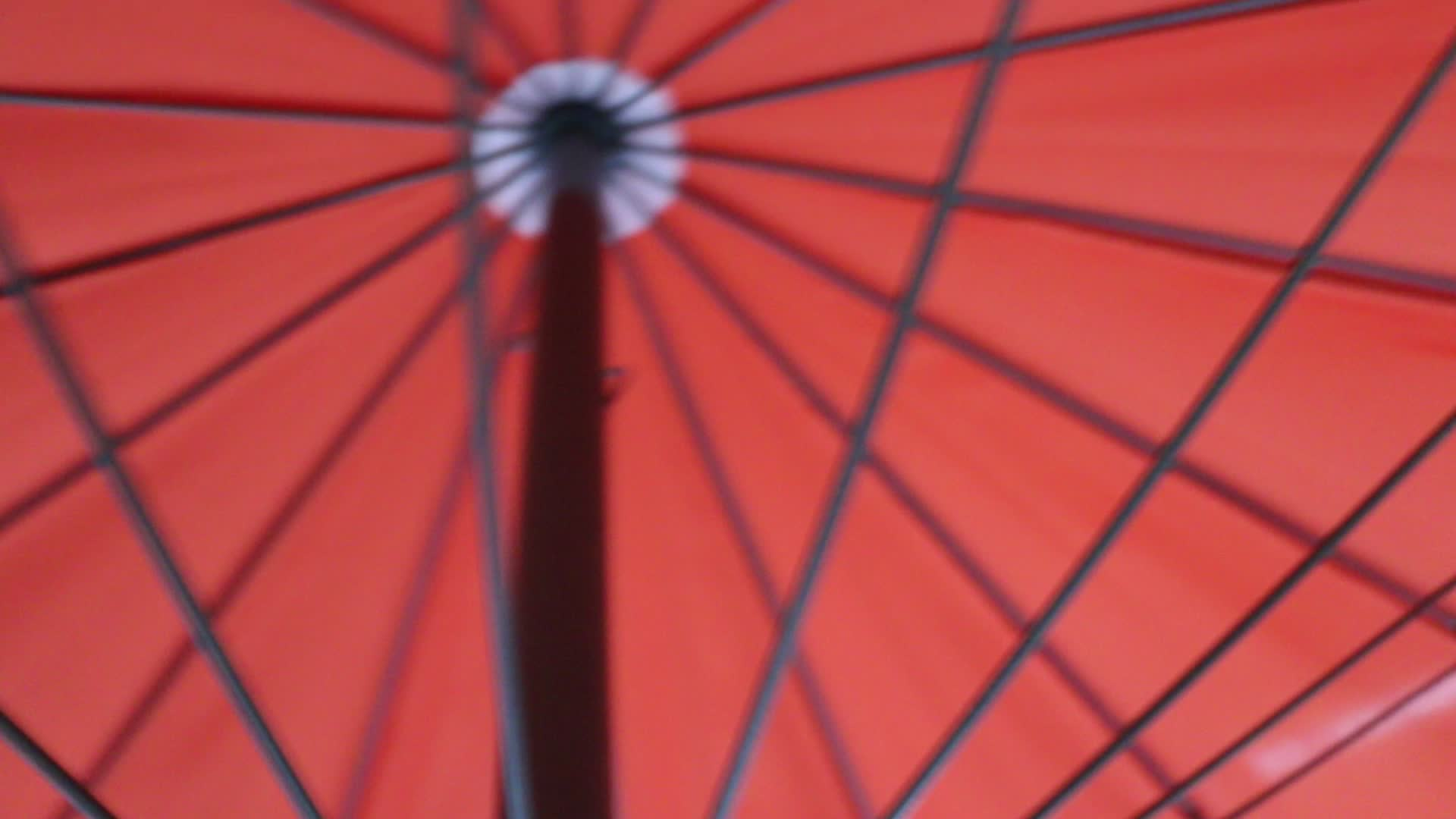 9ft 2.7m steel pole with 24 ribs aluminum crank garden umbrella parasol for your outdoor life