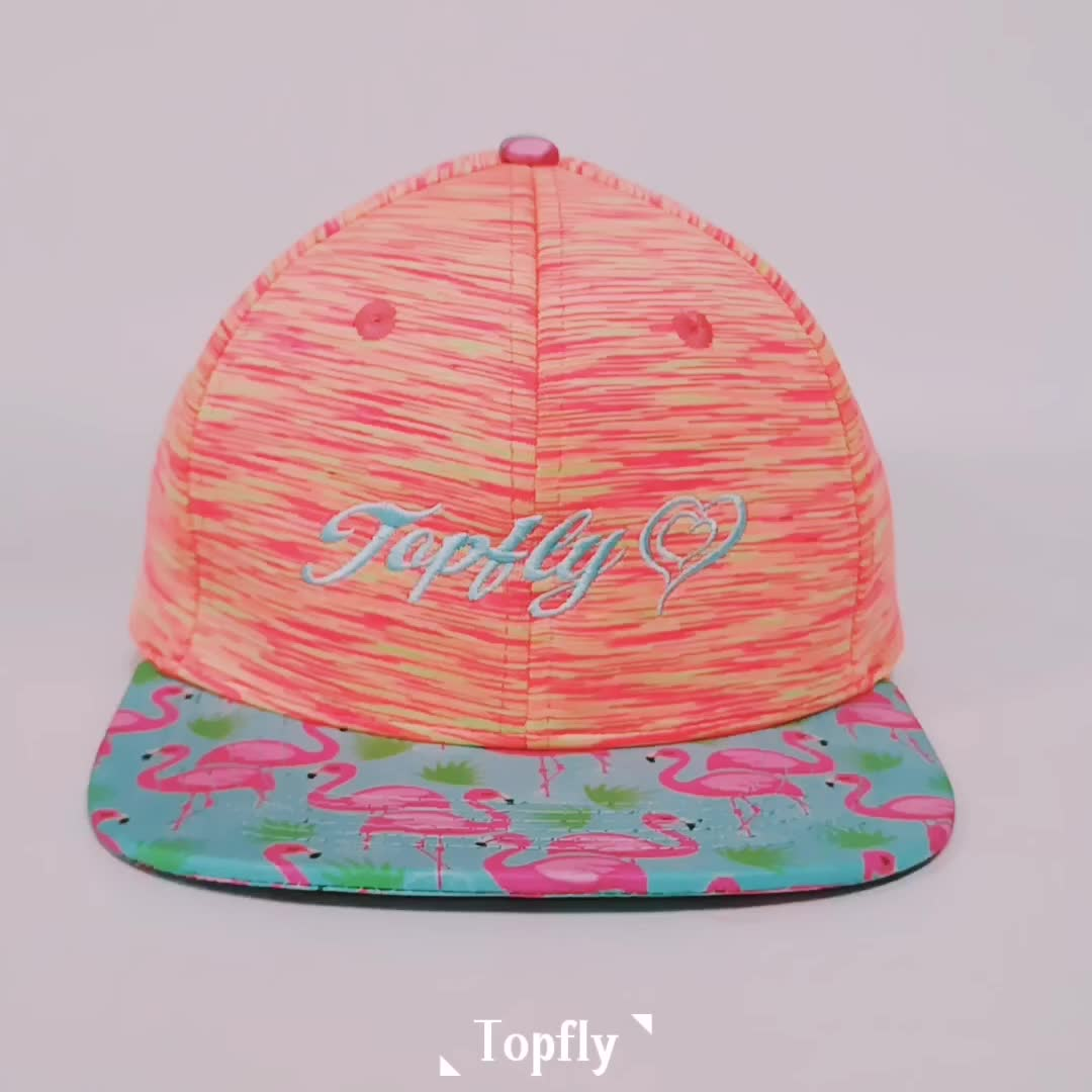 Wholesale custom Yupoong snapback Cap with flat embroidered logo For Kid