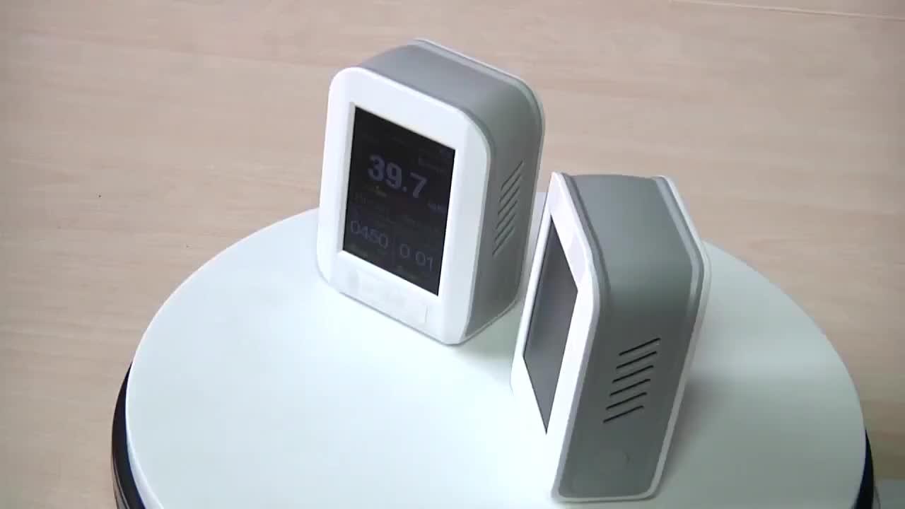 Taşınabilir kapalı PM1.0 PM2.5 PM10 CO2 formaldehit gaz analizörü fiyat için hava kalitesi izleme