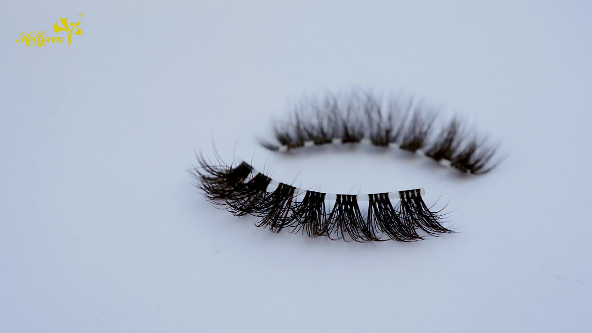 Hollyren Beauty Manufacture 3D Silk Strip Custom Clear Band False Eyelashes