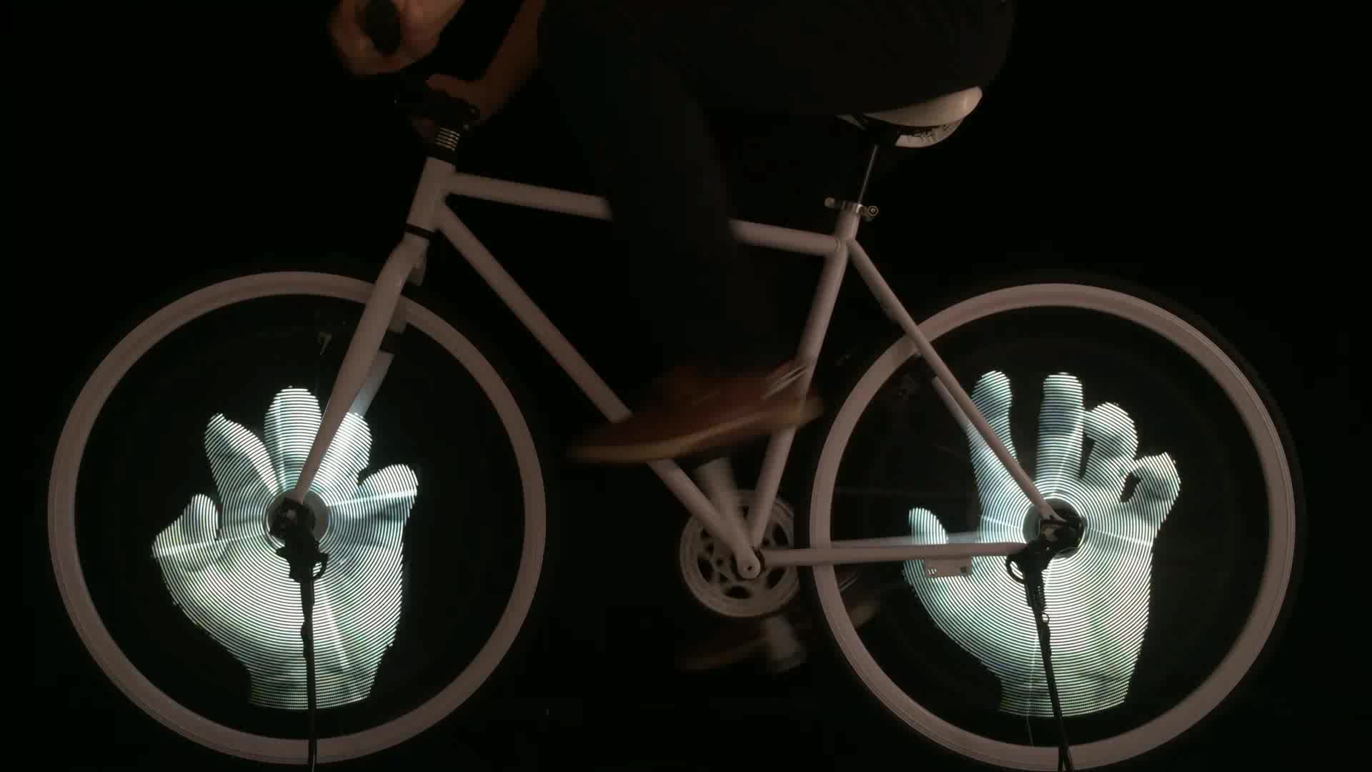 スーパークール高品質led懐中電灯強力な屋外でledライト用バイクホイール