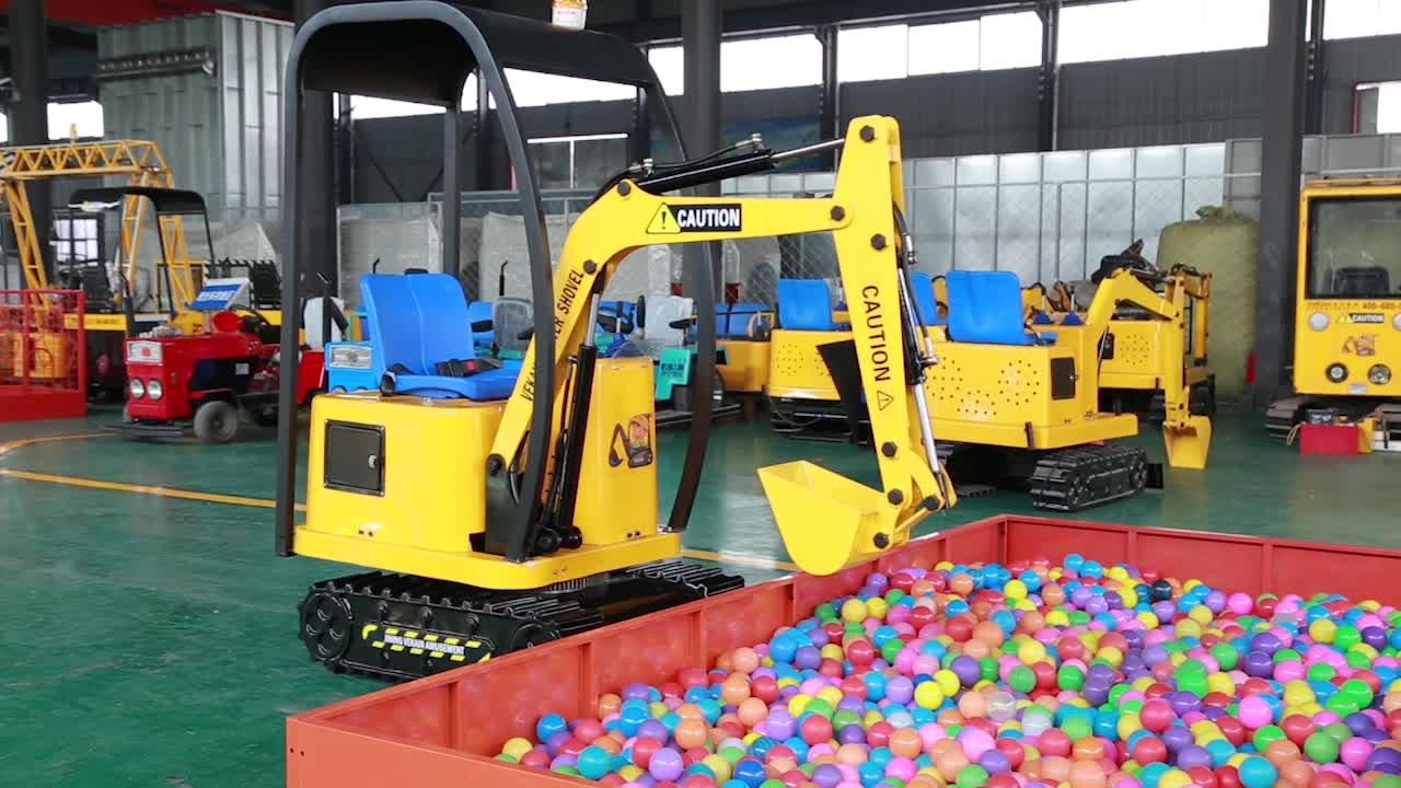Mini electric riding amusement park kids excavator for children