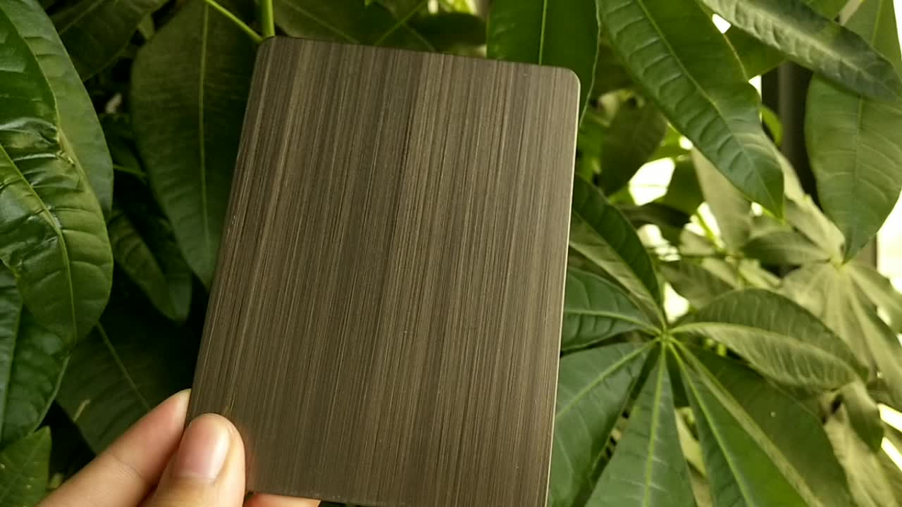 A3047 Professional Surface Finish Bronze Brushed Stainless Steel Sheet For Wall Decoration