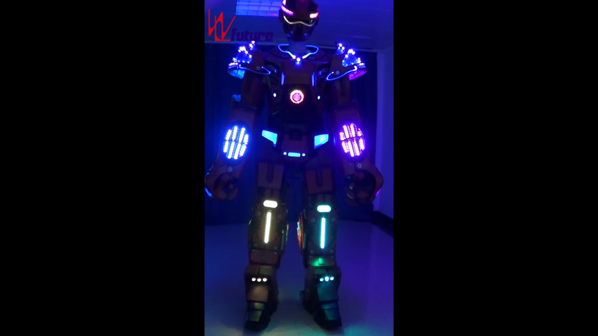 High quality giant 2.8 meters LED Robot suit costume,Unique LED Transformer for event show