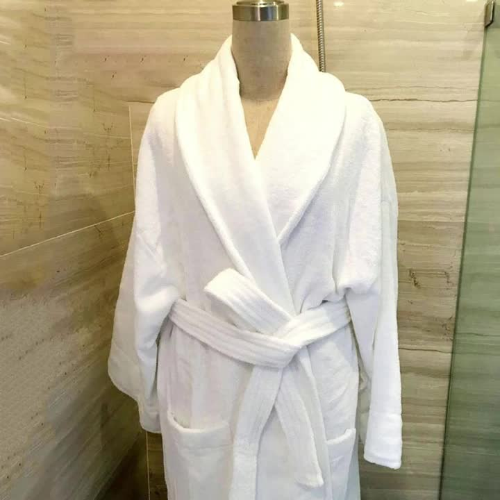 On time delivery 100% organic cotton spa robes microfiber hotel bath robe