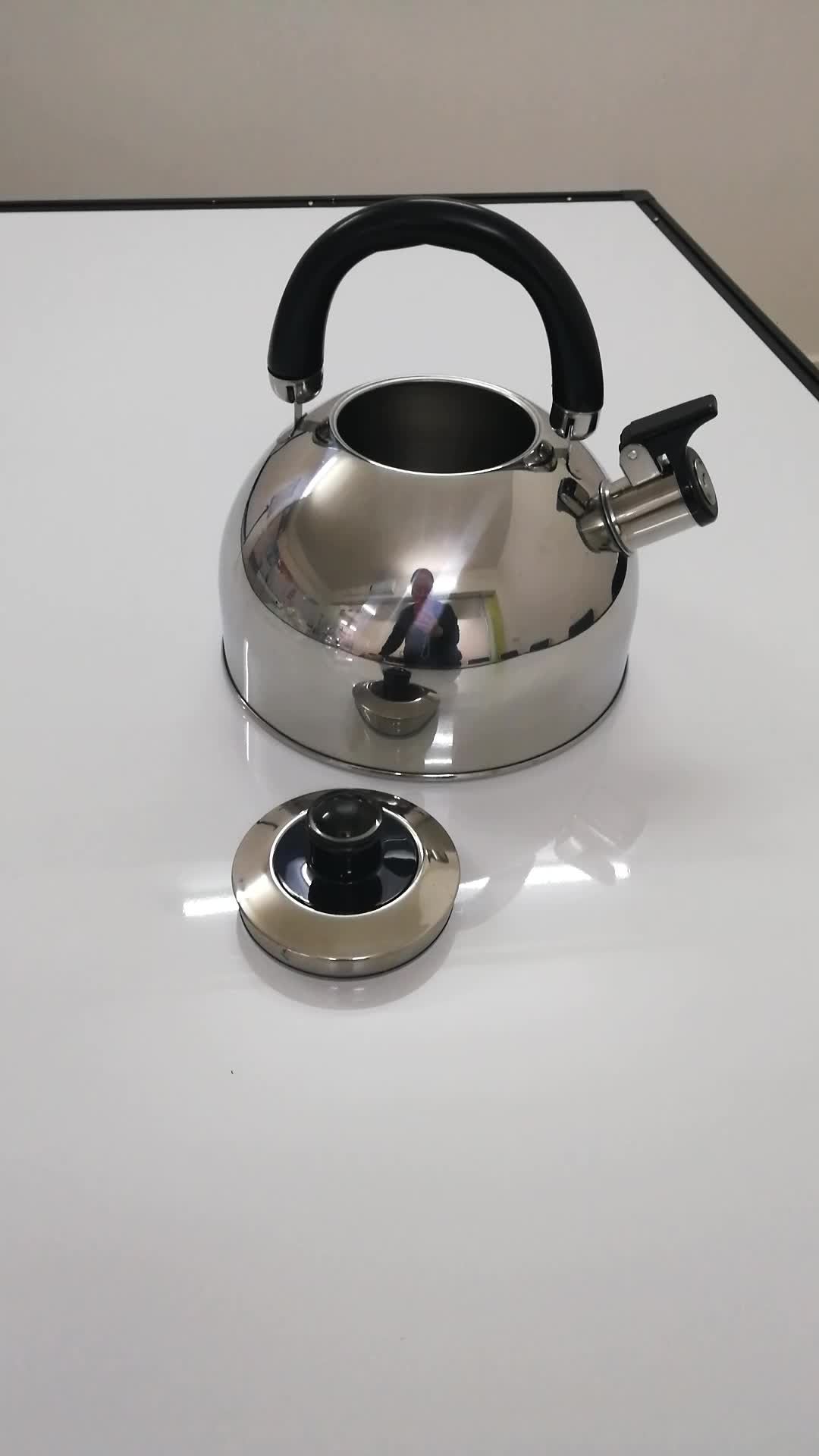 3L Tea Kettle With Single Bottom For Stove Stainless Steel Whistling Teapot Water Camping Kettle