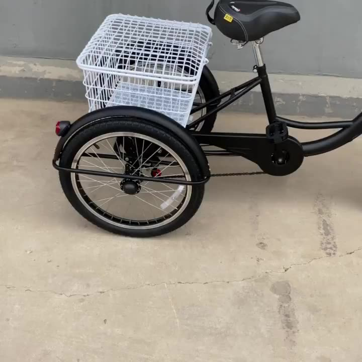 High quality adult tricycle 20 inch three wheels bicycle Best basket 3wheel adult tricycle for elders elderly Adult tricycle