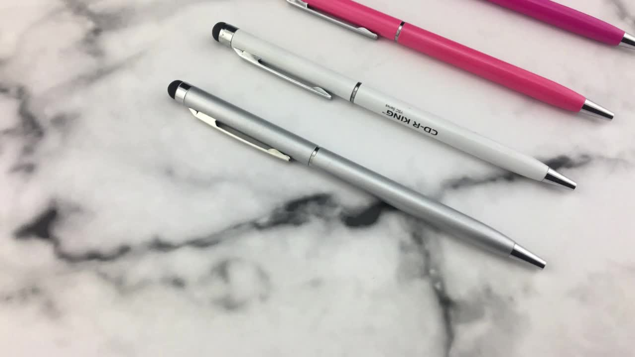 Hotel Silm Free Sample Available Ballpoint Pen with Stylus
