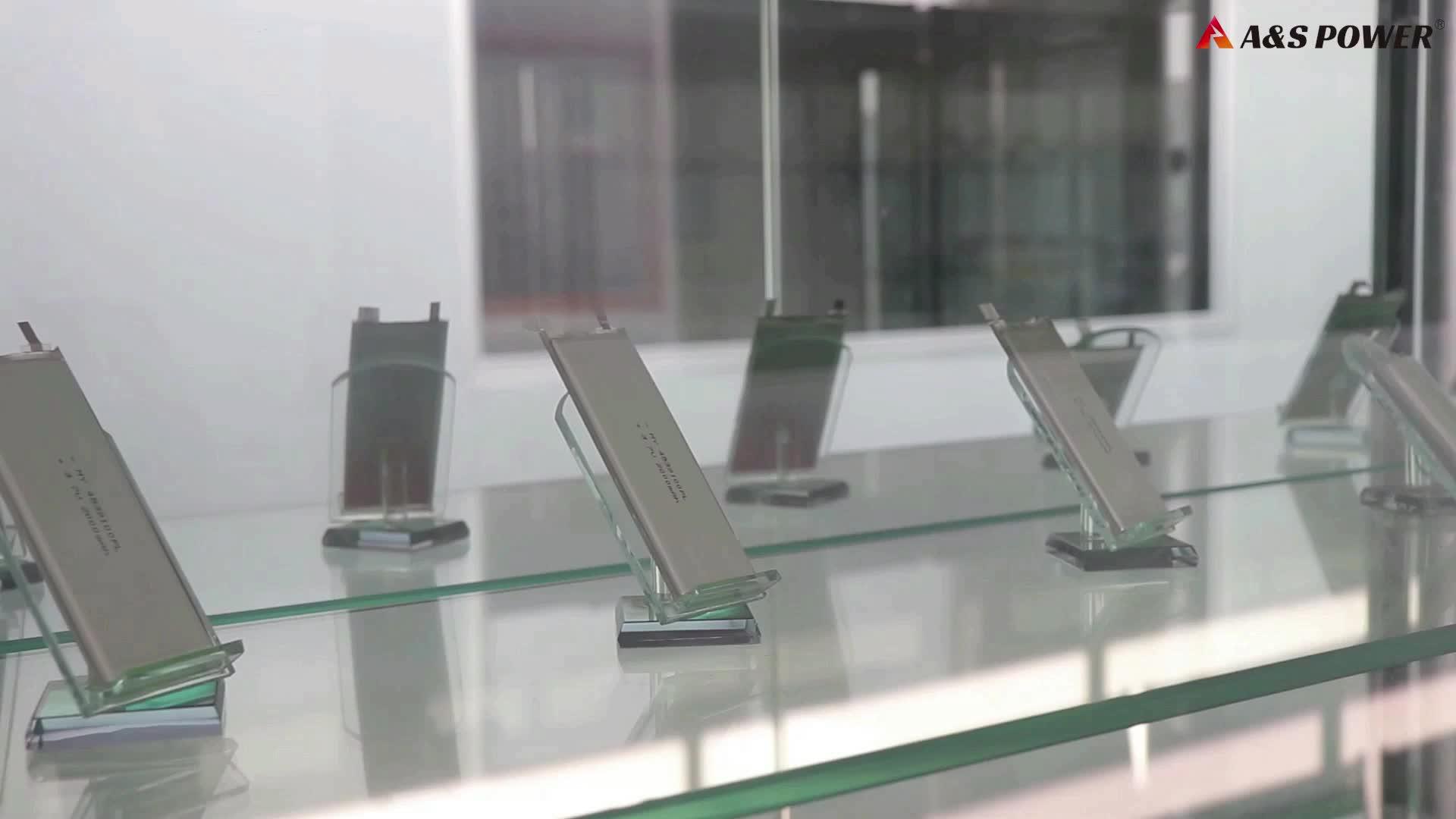 UL / IEC62133 ricaricabile 552035 3.7V 350mAh ai polimeri di litio lipo batteria li-ion per il dispositivo bluetooth