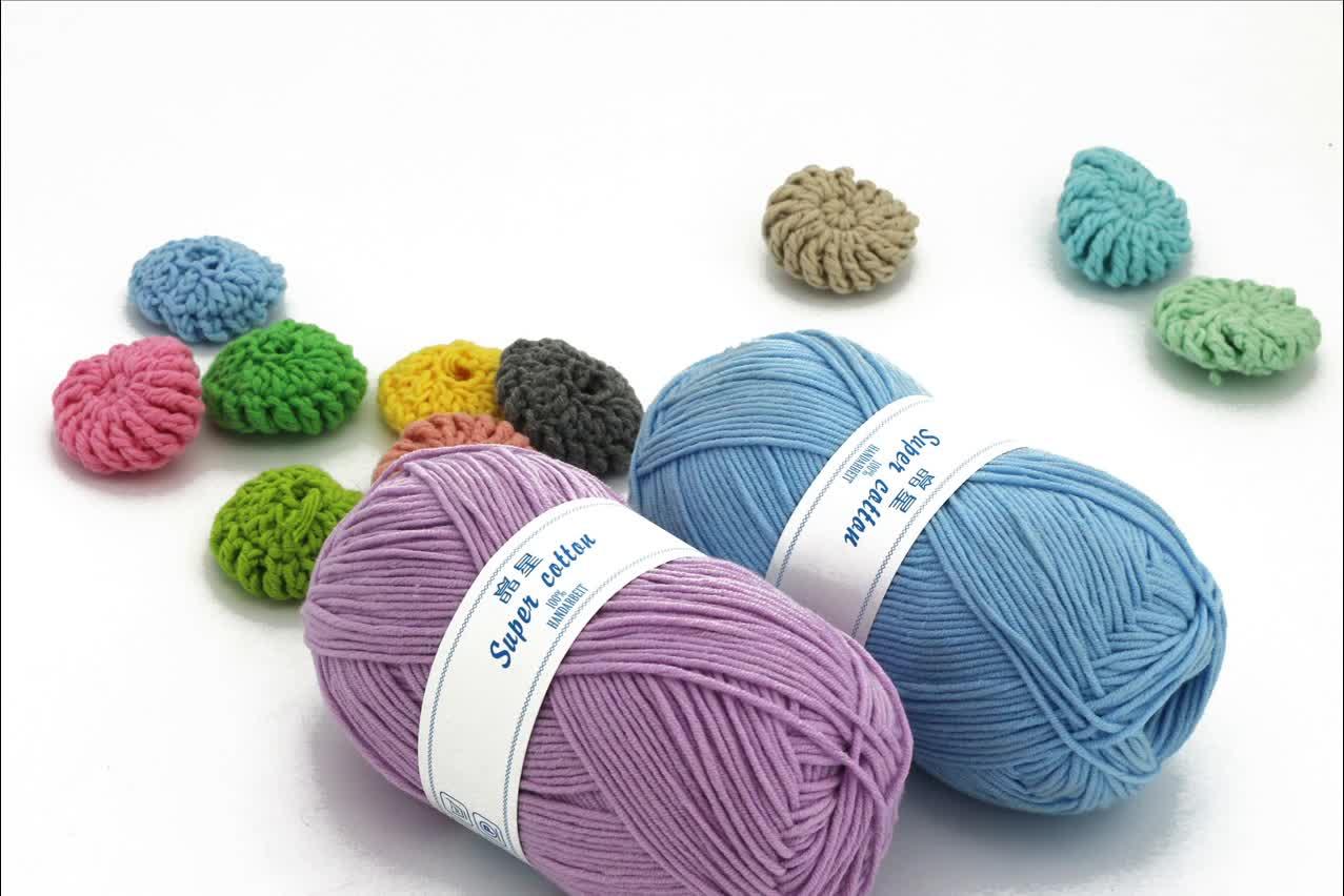 Сделано в Китае smb простая пряжа производитель за рубежом продажа низкая цена новая акриловая хлопчатобумажная трикотажная пряжа для вязания свитера