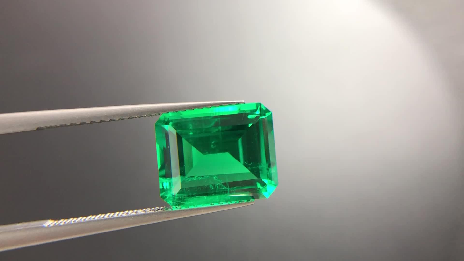 Lab created emerald loose gemstones 1carat green color emerald shape gems price per carat
