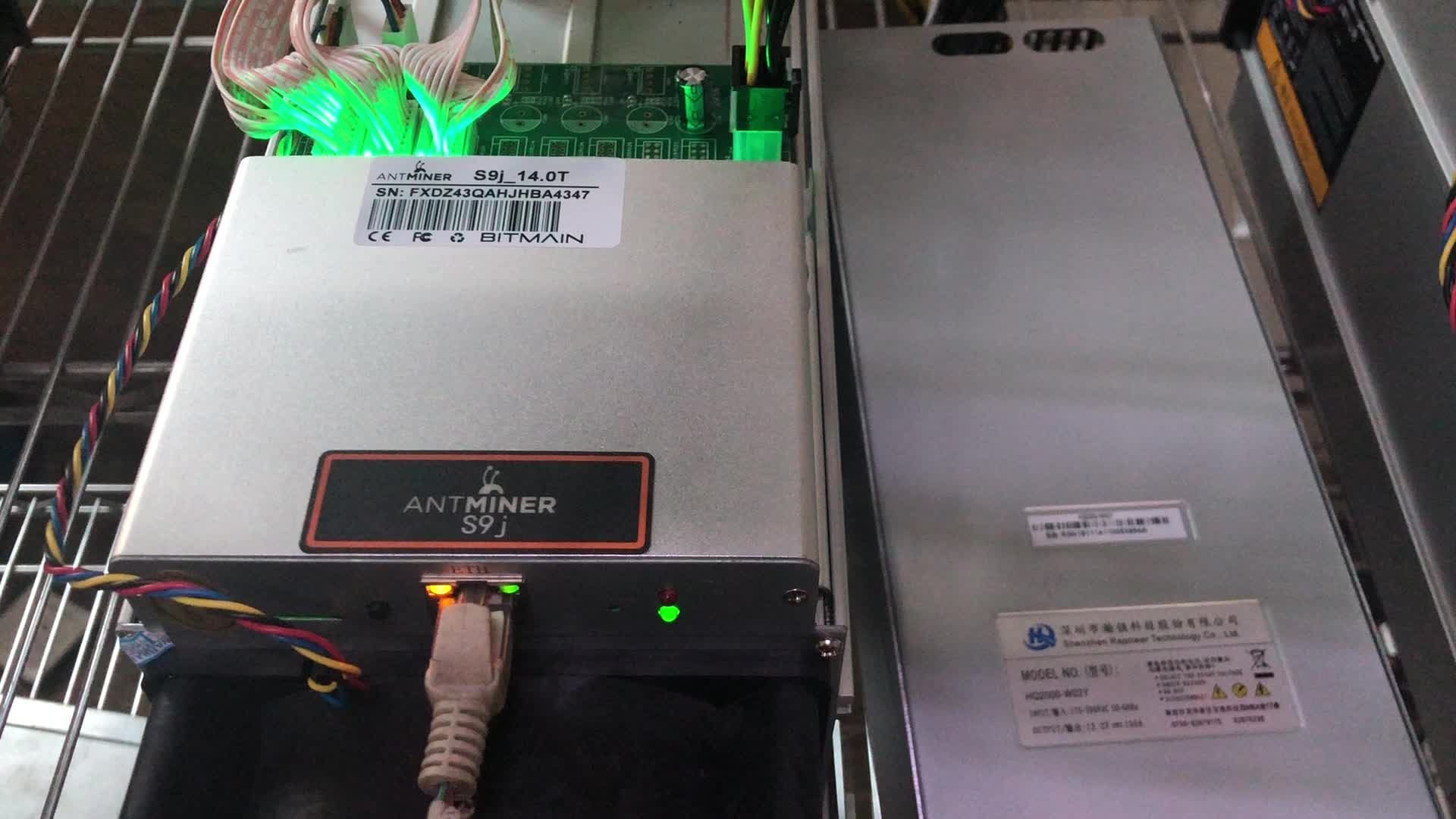 Lowest price used antminer S9 14t with original psu bitmain second hand S9 in stock