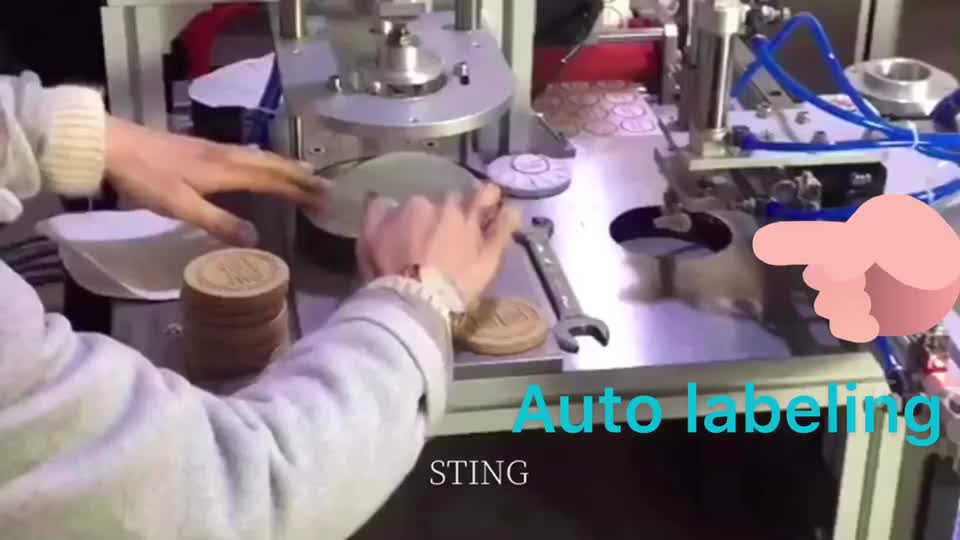 Manufacture Semi-automatic Solid Toilet Cleaner Pleated Packing Machine Hotel Round Soap Wrapping Machine
