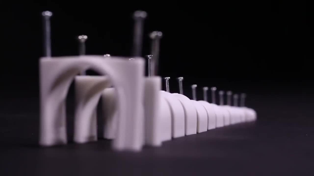 100pcs U geformten Kreis Kabel Clamp 14mm Feste Runde Draht Kabel Nagel Clip