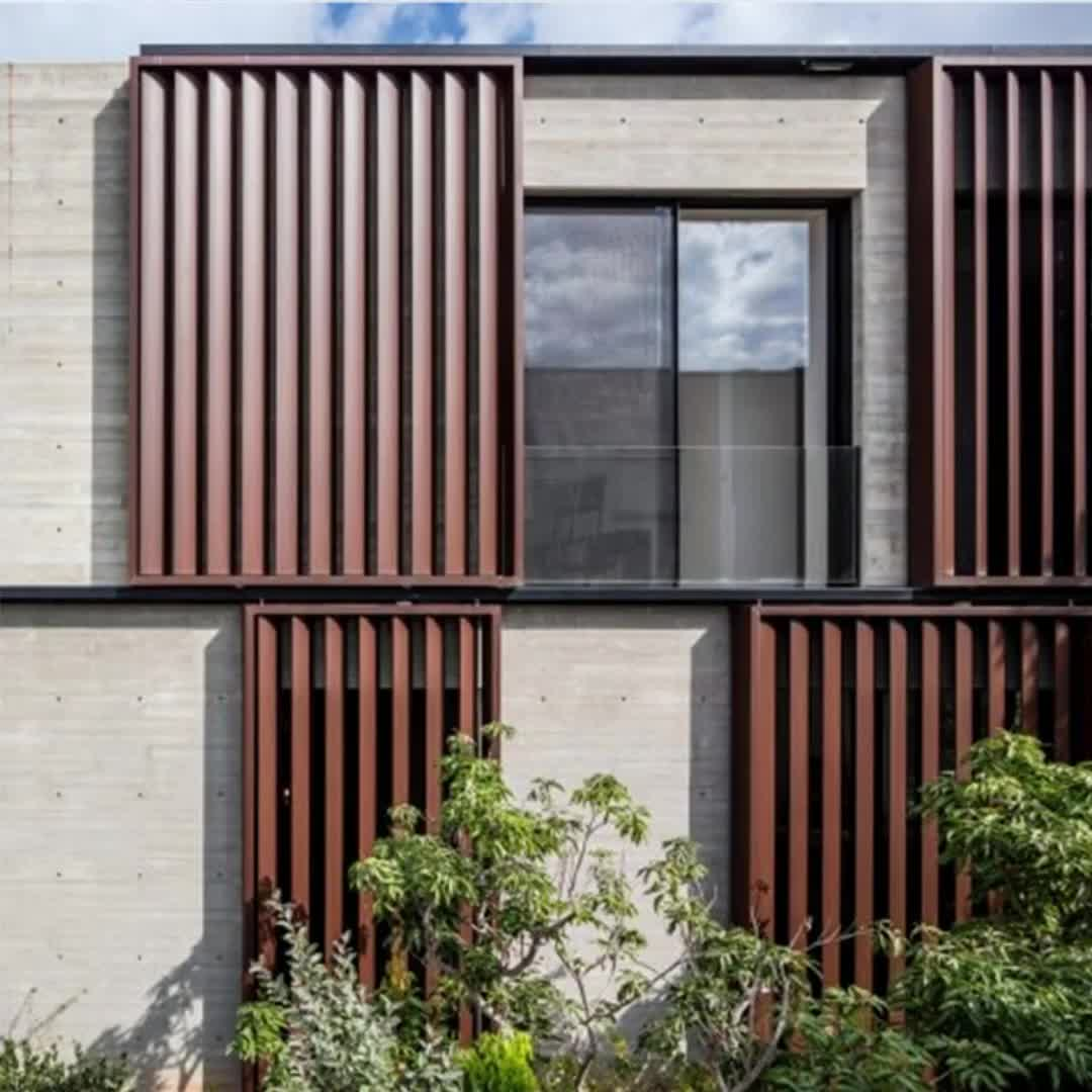 Bewegliche vertikale Aluminium-Lamellenpaneele für den Außenbereich