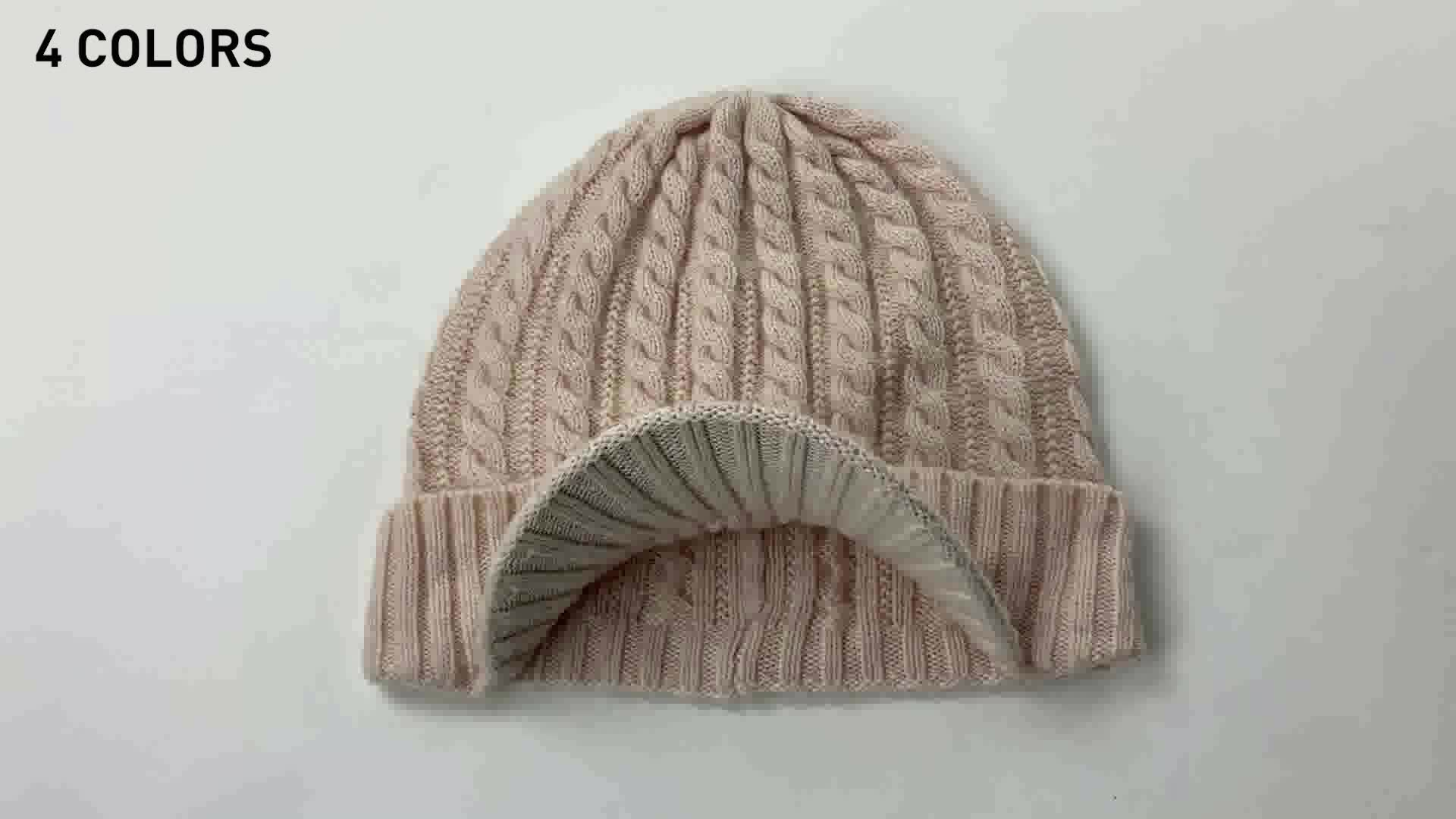 Knitting heating and Ear Protection in Winter woolen warm cap male