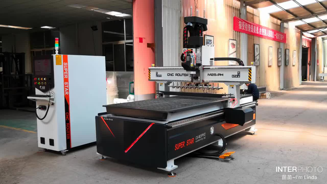 wooden door manufacturing machines wood cutting machine price Linear ATC 1325 Cnc Router