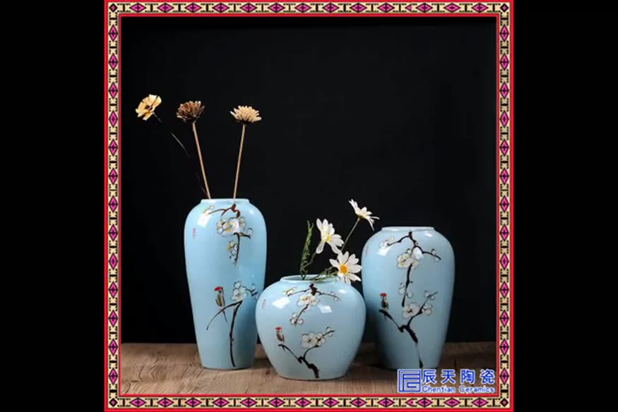 Marble pattern living room decoration geometric modern ceramic pottery Nordic marble flower wedding chinese vase home decor