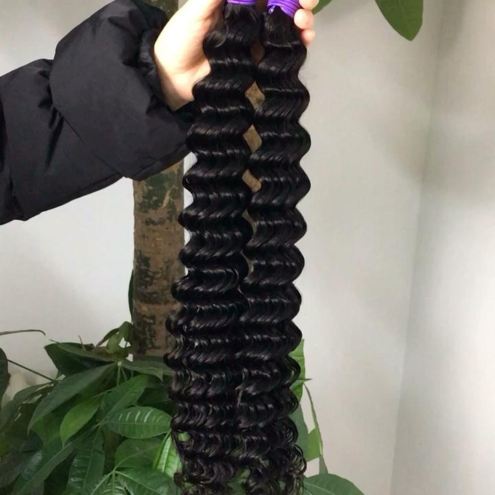 ขายร้อน Peruvian Hair EXTENSION Deep WAVE Closures Virgin Hair ผู้ขาย