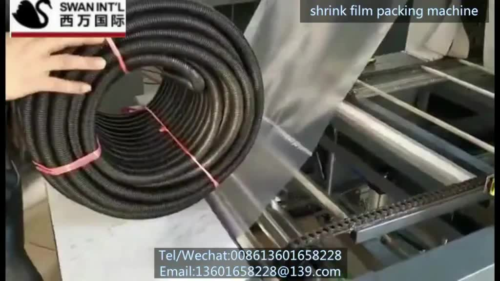 sleeve shrink wrapping machine film wrapping machine for plastic pipe