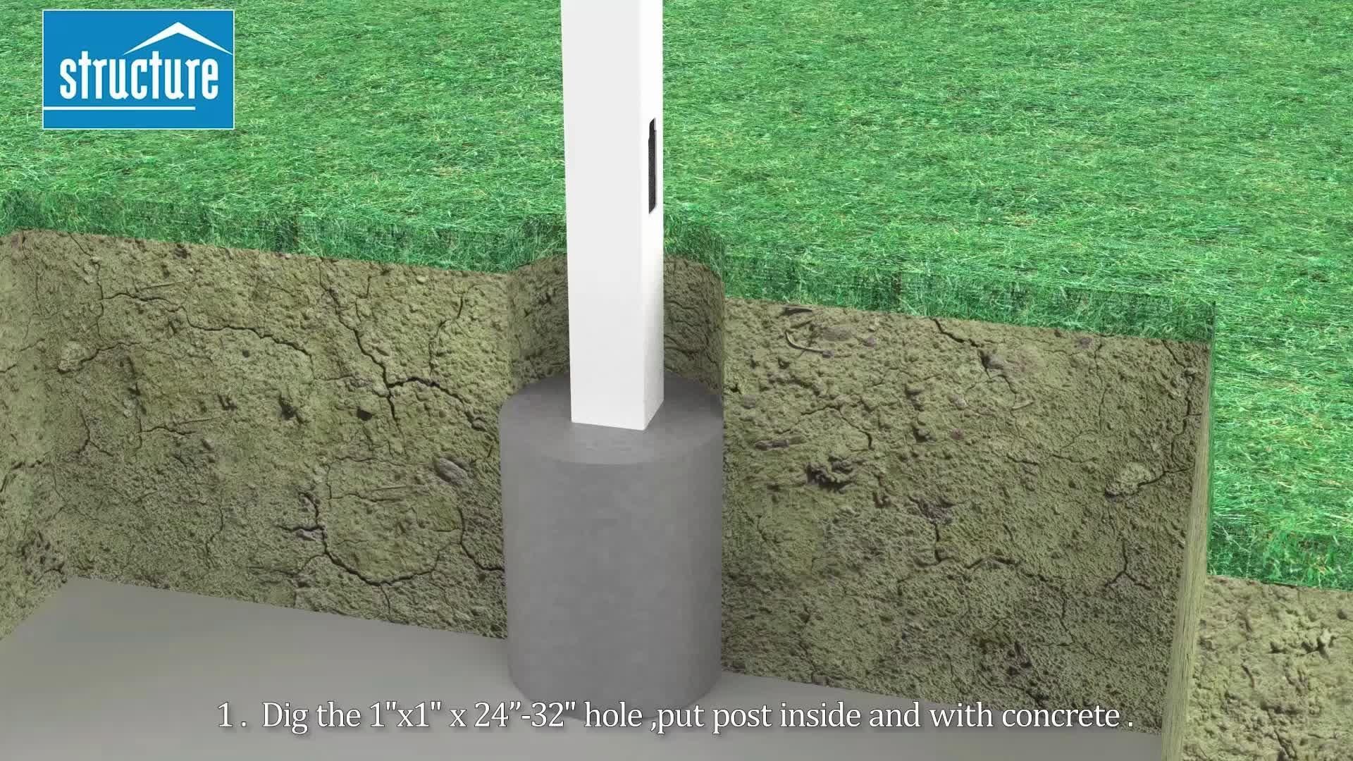 PVC plastic tuin houten hek voor thuis