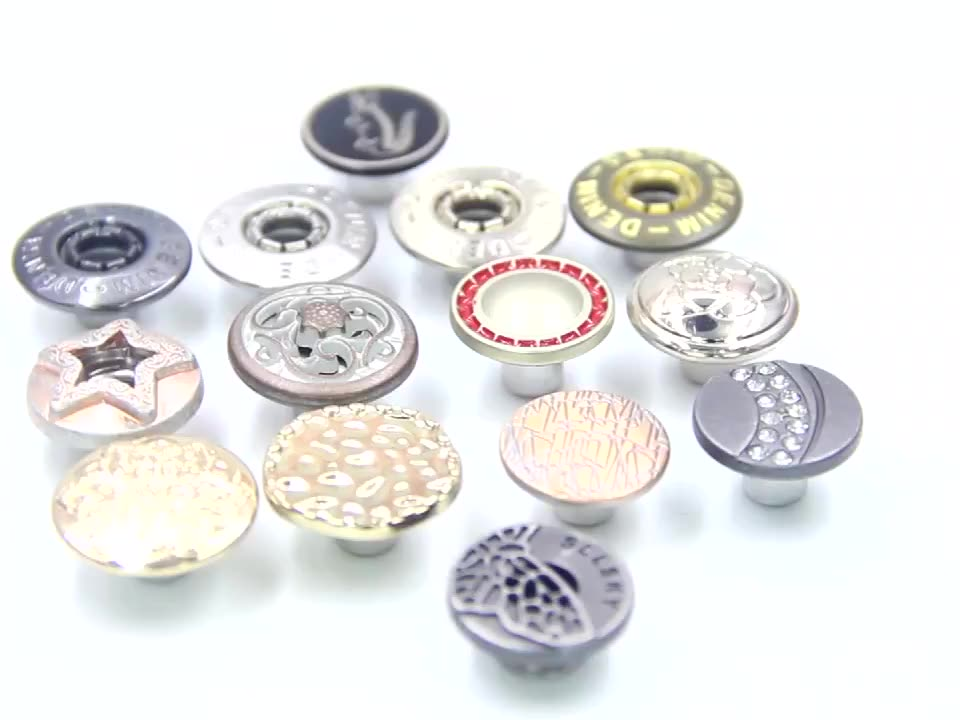 wholesale custom snap buttons for clothes and jeans