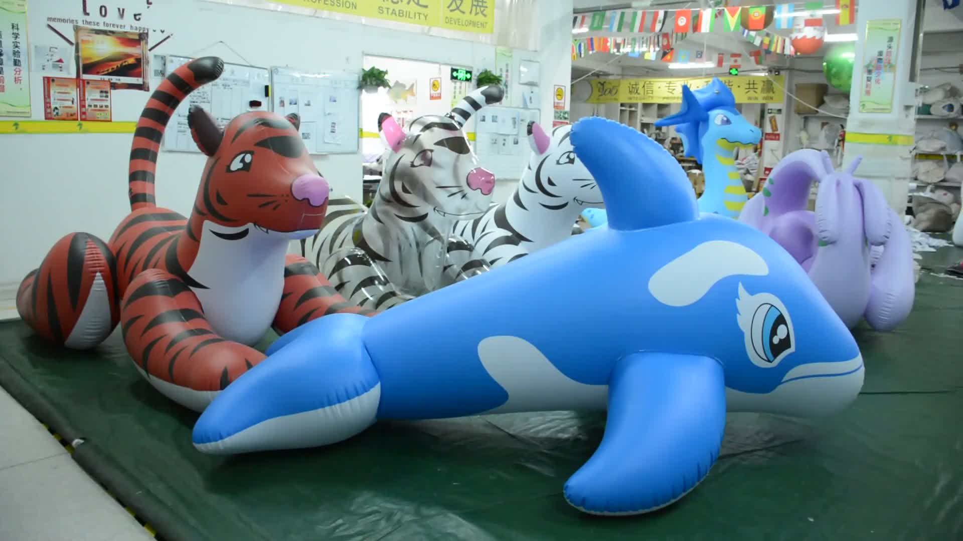 Giant Inflatable Shark Hongyi Toys Inflatable Shark Balloon Inflatable Water Floating For Sale
