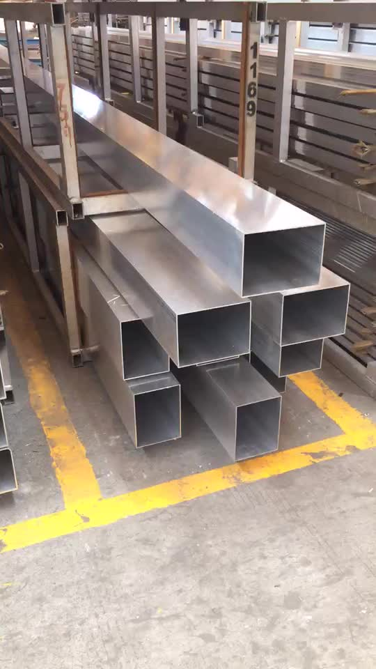 High quality 6000 series customized aluminum pipe and tube , large square tube aluminium 300x200mm in Stock